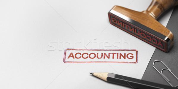 Buchhalter Wort Rechnungslegung Papier 3D-Darstellung Stock foto © olivier_le_moal