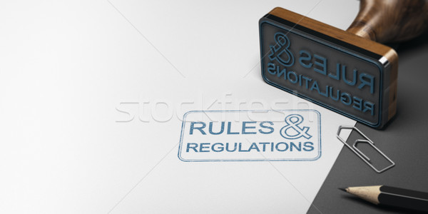 Reglement 3d illustration ander tekst Stockfoto © olivier_le_moal