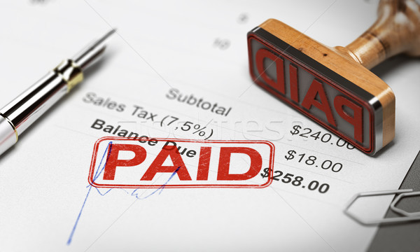 Paid Invoice, Debt or Invoice Collection Concept Stock photo © olivier_le_moal