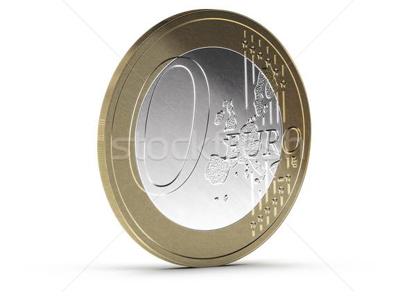 свободный нулевой евро монеты белый тень Сток-фото © olivier_le_moal