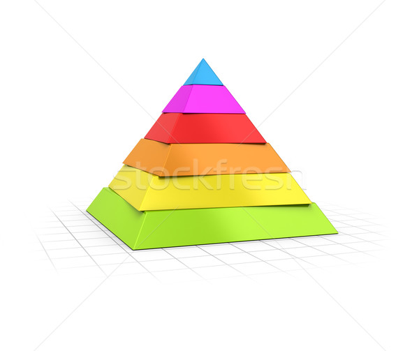 Layered Pyramid Six Levels  Stock photo © olivier_le_moal