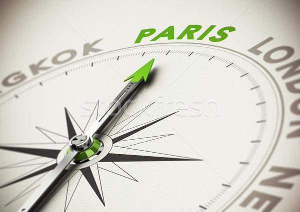 úticél ötlet Párizs iránytű tű mutat Stock fotó © olivier_le_moal