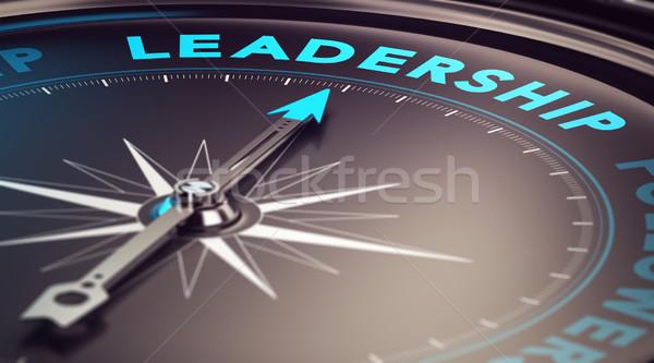Leiderschap kompas naald wijzend woord Blur Stockfoto © olivier_le_moal