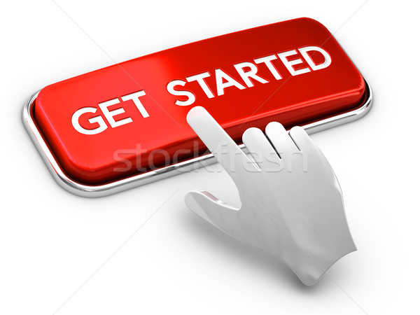 Call to Action Button, Get Started Stock photo © olivier_le_moal