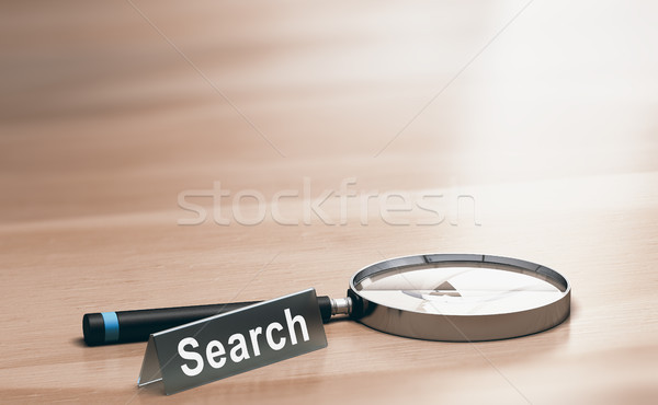 Magnifying Glass. Concept of Web Search Stock photo © olivier_le_moal