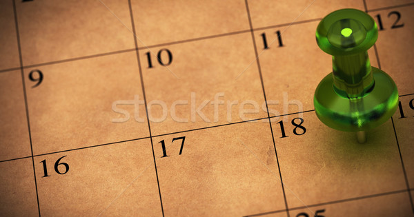 schedule, appointment onto a calendar. Event memo Stock photo © olivier_le_moal