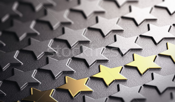 Golden Stars Background Symbol of Excellence Stock photo © olivier_le_moal