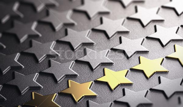 Dorado estrellas símbolo excelencia muchos alivio Foto stock © olivier_le_moal