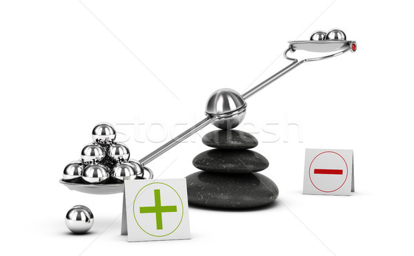 Weigh Pros and Cons, Benefit Risk Assesment. Positive Evaluation Stock photo © olivier_le_moal
