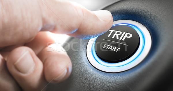 Bérlés autó kezdet üzleti út hüvelykujj sajtó Stock fotó © olivier_le_moal