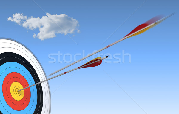 archery, bulls-eye Stock photo © olivier_le_moal