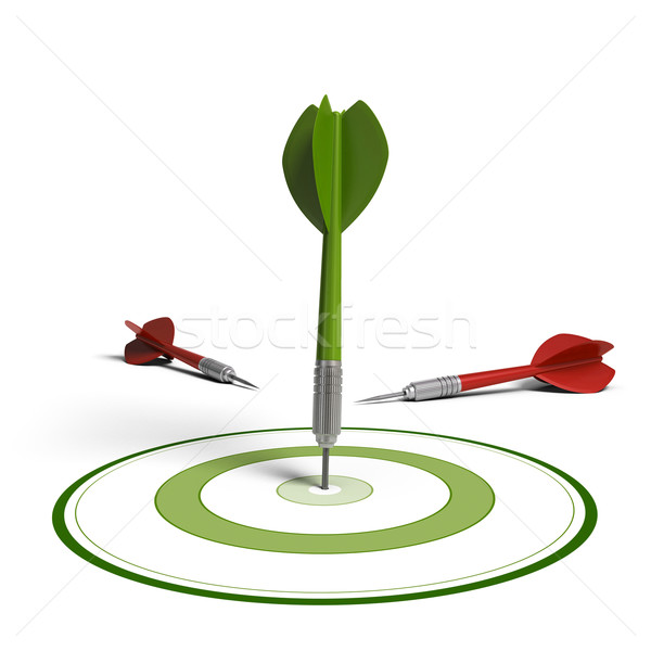 Market targeting concept, improving results Stock photo © olivier_le_moal