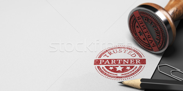 Trusted Partner, Trust in Business Partnership  Stock photo © olivier_le_moal