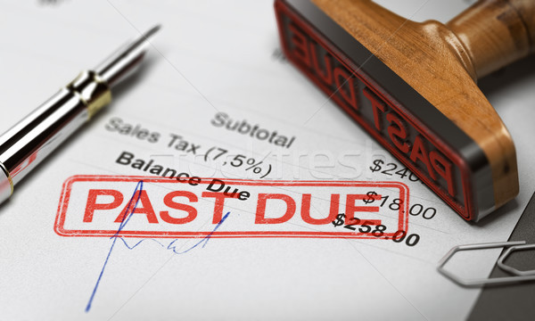 Business Debt Collection or Recovery. Unpaid Invoice Stock photo © olivier_le_moal