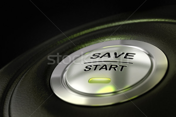 saving money, save start button Stock photo © olivier_le_moal