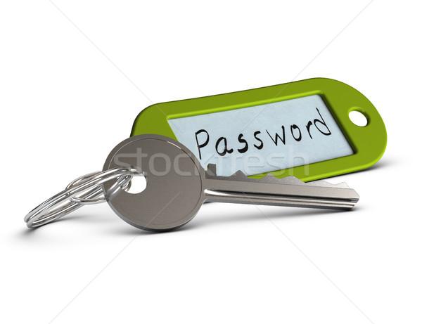 Kennwort geschützt eingeschränkt zugreifen Sicherheit Schlüssel Stock foto © olivier_le_moal