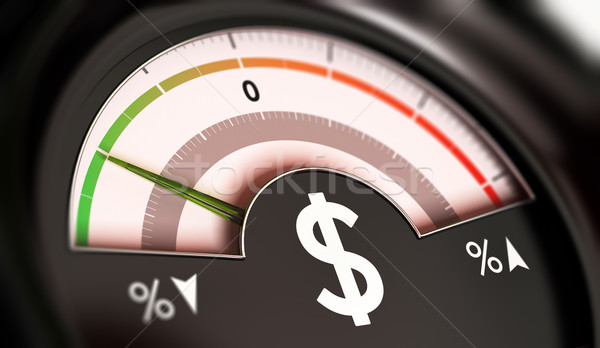 Dropping Prices Concept or Deflation of Dollar Currency Stock photo © olivier_le_moal