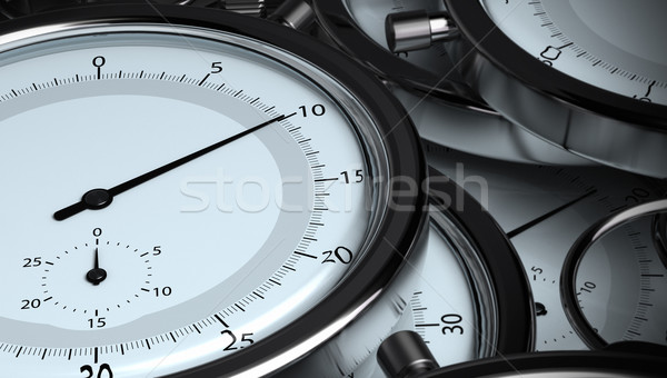 many stopwatches concept of time Stock photo © olivier_le_moal