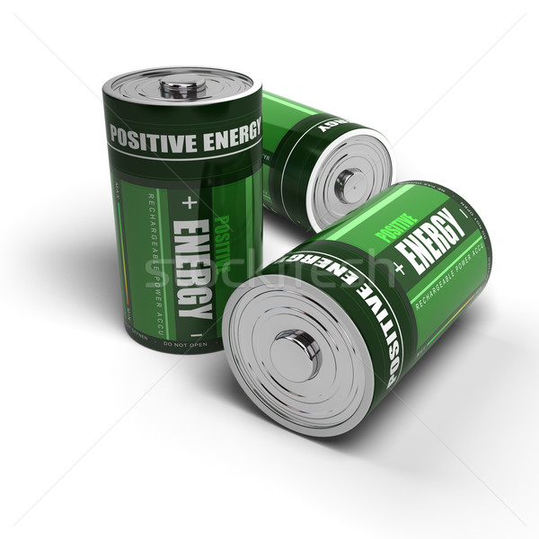 positive energy - batteries concept, meditation, relaxation Stock photo © olivier_le_moal
