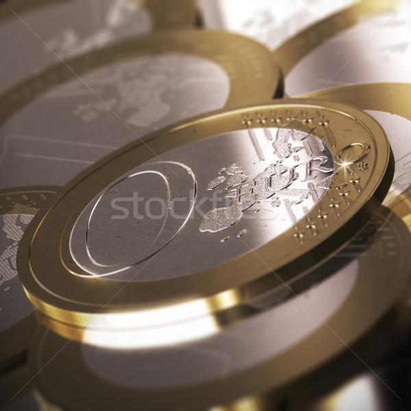 Pari a zero euro moneta molti altro monete Foto d'archivio © olivier_le_moal