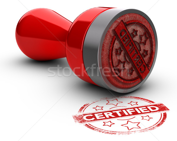 Certified Rubber Stamp Stock photo © olivier_le_moal