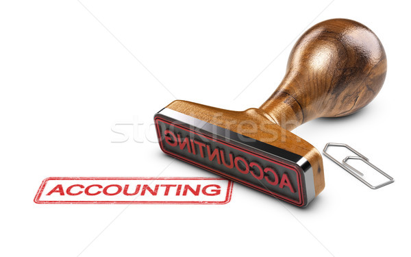 Accountant, Word Accounting Over White Background Stock photo © olivier_le_moal