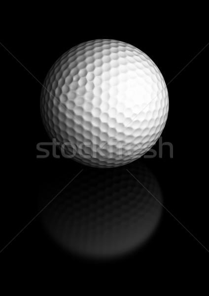 Golfball preto centro imagem Foto stock © olivier_le_moal