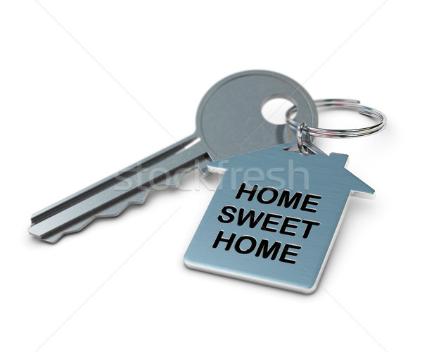 home sweet home white background Stock photo © olivier_le_moal