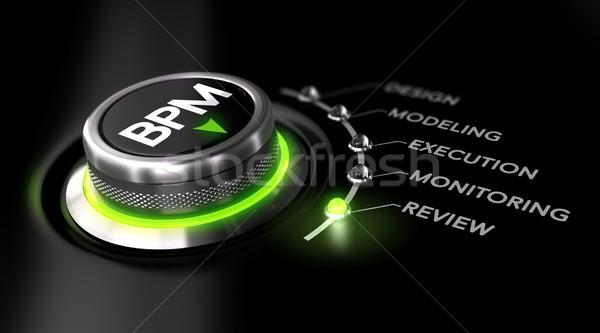 Bpm iş süreç yönetim değiştirmek yeşil Stok fotoğraf © olivier_le_moal