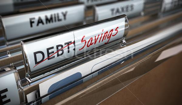 Megtakarított pénz akta fókusz kép illusztráció adósság Stock fotó © olivier_le_moal