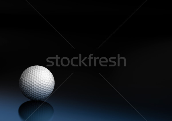 спорт оборудование мяч для гольфа темно синий черный Сток-фото © olivier_le_moal