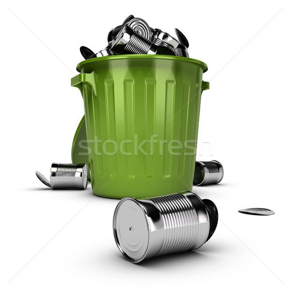 Atık çöp yeşil plastik tok Stok fotoğraf © olivier_le_moal