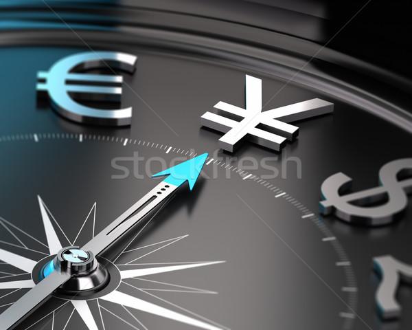 日本語 円 通貨 コンパス 針 ポインティング ストックフォト © olivier_le_moal