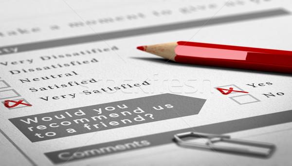 положительный обратная связь бумаги обзор документа красный Сток-фото © olivier_le_moal