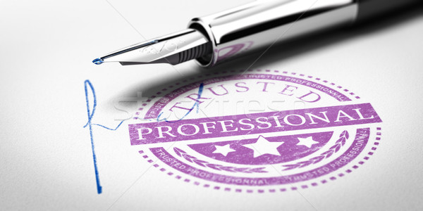Trusted Professionnal Stamp Stock photo © olivier_le_moal