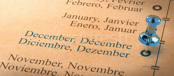 Focus on december, Months of the Year Calendar Stock photo © olivier_le_moal