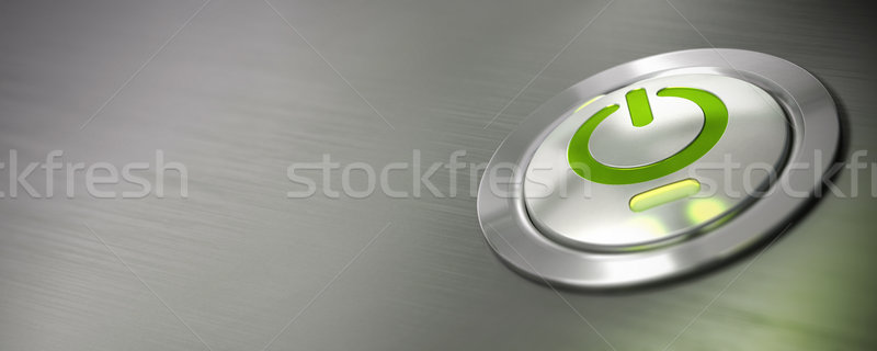 Stock photo: computer power button