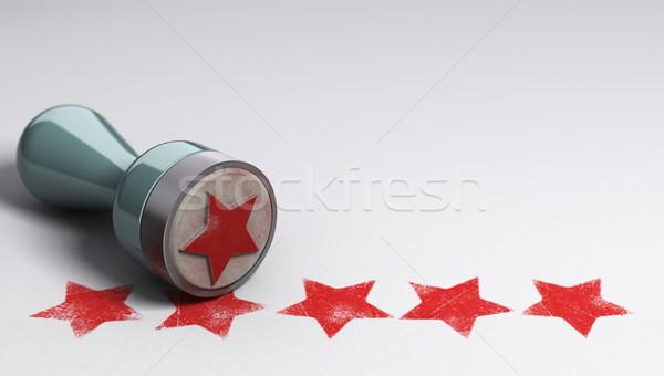 Migliore cliente esperienza carta cinque Foto d'archivio © olivier_le_moal