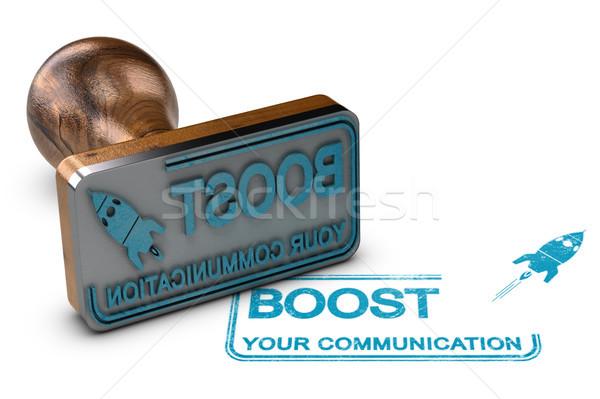 Comunicação publicidade ilustração 3d branco texto Foto stock © olivier_le_moal