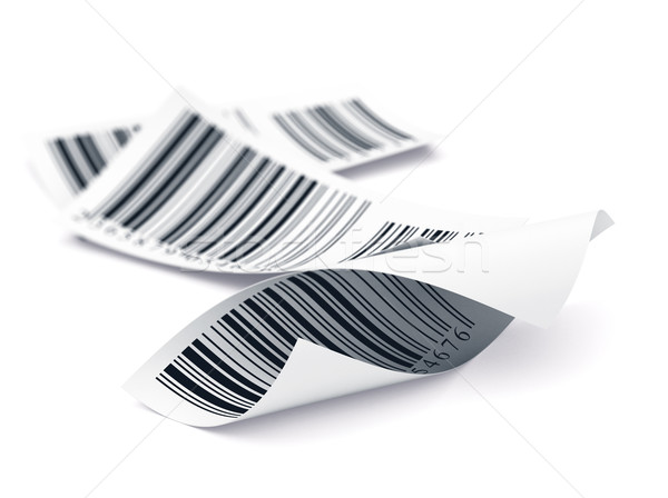 Barcode Tags Over White, Identification Label, Retail Concept Stock photo © olivier_le_moal