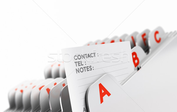 Clients Base, Prospects List Stock photo © olivier_le_moal