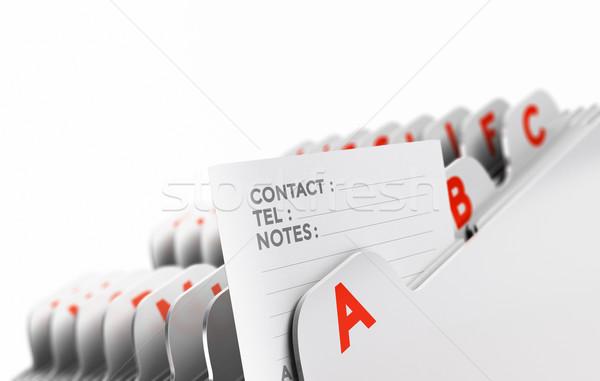 список клиентов файла организованный Focus Сток-фото © olivier_le_moal