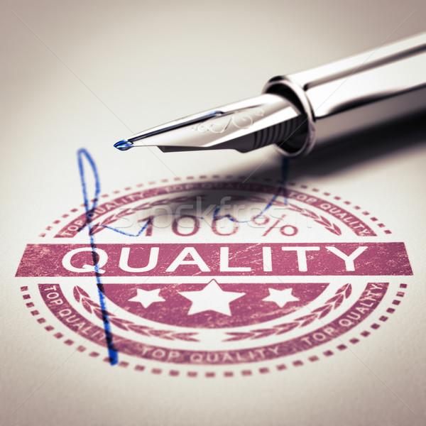 Mejor calidad garantizar 100 por ciento Foto stock © olivier_le_moal