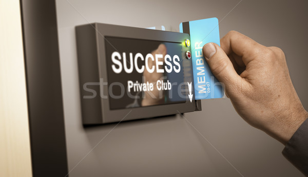 Achieving Success, accomplishment. Stock photo © olivier_le_moal