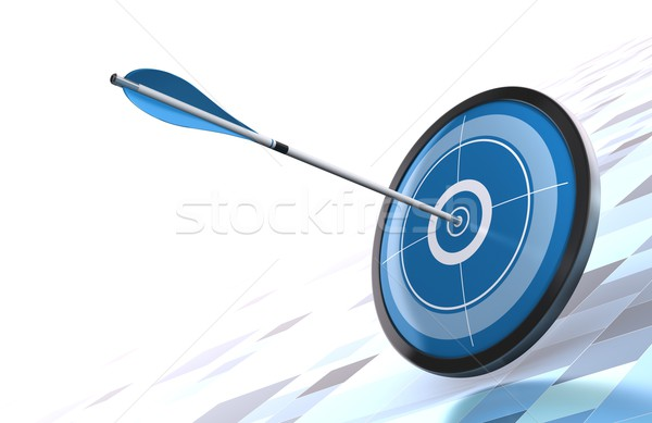blue target and arrow goal concept Stock photo © olivier_le_moal