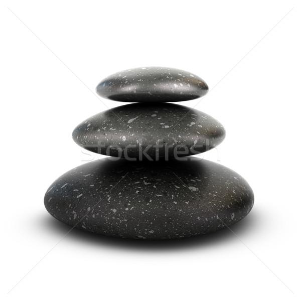 Trzy spokój kamienie biały Zdjęcia stock © olivier_le_moal