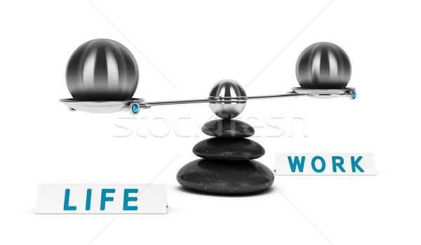 Lavoro vita equilibrio due sfere dimensioni Foto d'archivio © olivier_le_moal