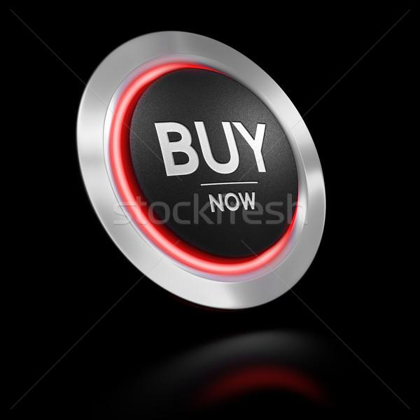 Appel action bouton noir 3d illustration Photo stock © olivier_le_moal