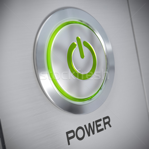 Power button of a computer, energy save Stock photo © olivier_le_moal