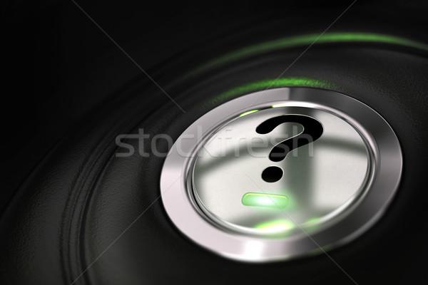 Zdjęcia stock: Znak · zapytania · pytanie · przycisk · symbol · czarny